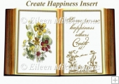 Create Happiness Wildflower Open Book Insert