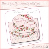 Floral Pink Scalloped Shelf Card