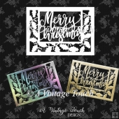 Holly and Merry Christmas card cutting file