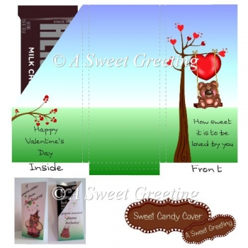Sweet Valentine Small Candy Bar Card