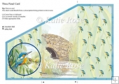 "Three Fold Water's Edge ""Looking On"" Kingfishers Craft Sheet"