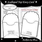 Scalloped Top Envy Card Template