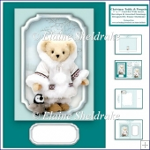 5 x 7 Christmas Teddy Bear & Penguin Card Kit + Insert Tags etc.