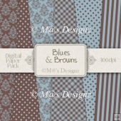 Blues & Browns Paper Pack CU4CU