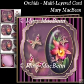 Orchids - Multi-Layered Cards