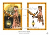 Golden Dawn Goddess - A5 Card Topper With Decoupage