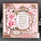 Soft Pink Roses with Verse for All Occasions Topper