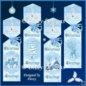 Winter in Blue Triangular Cracker Boxes