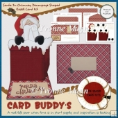 Santa In Chimney Decoupage Shaped Easel Card Kit