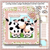 Loving Cows Large Scalloped Corner Card Kit