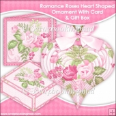 Romance Roses 3D Heart Shaped Ornament With Card & Box