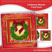Christmas Wreath Card Front