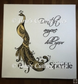 Peacock Dont Let Anyone Dull Your Sparkle Paper Vinyl Cut file