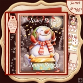SNOWMAN'S MUSICAL CHRISTMAS GIFT 7.8 Decoupage & Insert Kit