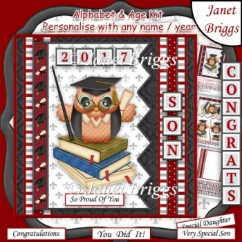 GRADUATION 7.5 Alphabet and Numbers Kit Create Any Name or Year
