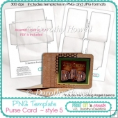 Purse Template 05 ~ Tri-fold Wallet