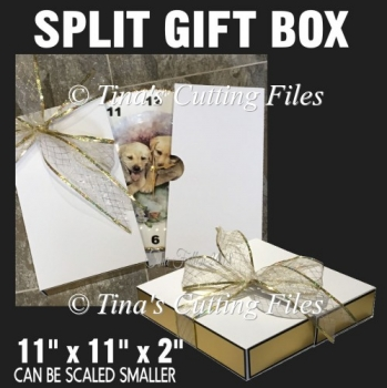 Large Split apart Gift Box 11 x 11 x 2 inches, ideal for plates