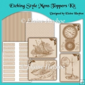 Etching Style Mens Toppers Kit