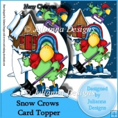 Snow Crows Card Front/Topper