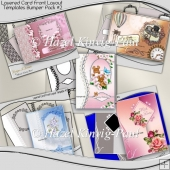 Layered Card Front Layout Templates Bumper Pack #2