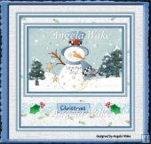 Snowman winter joy 7x5x7x5 card