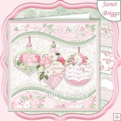 PASTEL CHRISTMAS BAUBLES 7.5 Decoupage & Insert Kit