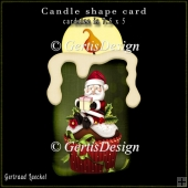 Candle Shape Card Christmas Poinsettia santa cupcake 696