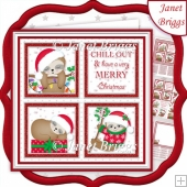 CHRISTMAS SLOTH SQUARES 7.5 Quick Layer Card & Insert
