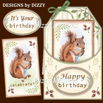 Squirrel Tag Card