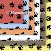 Paw Print Backing Papers