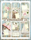 Personalize It Cottage Chic Tag Set