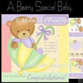 A Beary Special Baby, Mini Card Kit