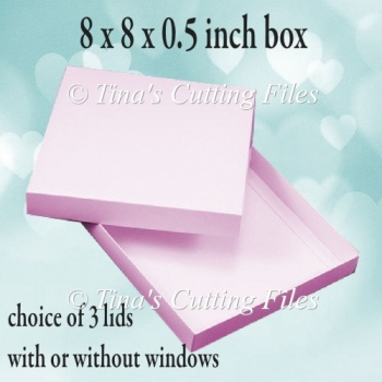 Square Box 8 x 8 x 0.5 inches Sturdy Double Skinned box