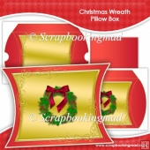 Christmas Wreath Pillow Box EXTRA LARGE
