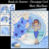 Ready for Summer - Decoupage Card
