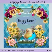 Happy Easter Little Chick 1 Mini Kit