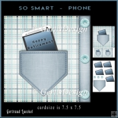 Smartphone Male Card Topper 912