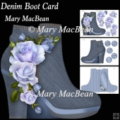 Denim Boot Card