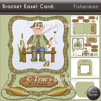 Bracket Easel: Fisherman
