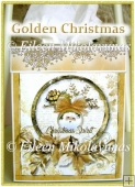 Golden Christmas Kleenex Box Cover with Directions