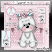 Think Pink Westie Mini Kit Breast Cancer Awareness/Birthday