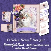 Beautiful Puss - Multi Occasions Card
