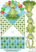 Celebration Frog Diamond Top Spring Card