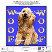 Woof Woof Cocker Poodle Puppy Dog On Blue 6 x 6 Card Kit