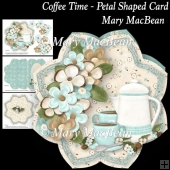 Coffee Time - Petal Shaped Card