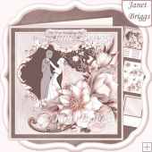 WEDDING DAY 1st DANCE 8x8 Decoupage & Insert Kit