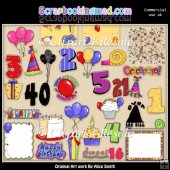 Birthday Celebrations Clipart Graphics Download