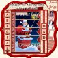 SANTA SELFIE Christmas 7.5 Quick Card Kit Create Any Name