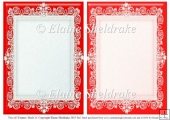 2 x A5 Red (1) Lace Frames for Card Making & Scrapbooking