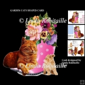 Garden Cats Shaped Card